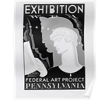 WPA United States Government Work Project Administration Poster 0422 Federal Art Project Pennsylvania Exhibition Poster