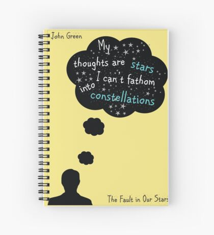 The Fault In Our Stars Quote Spiral Notebook