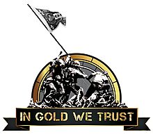 In Gold We Trust Photographic Print