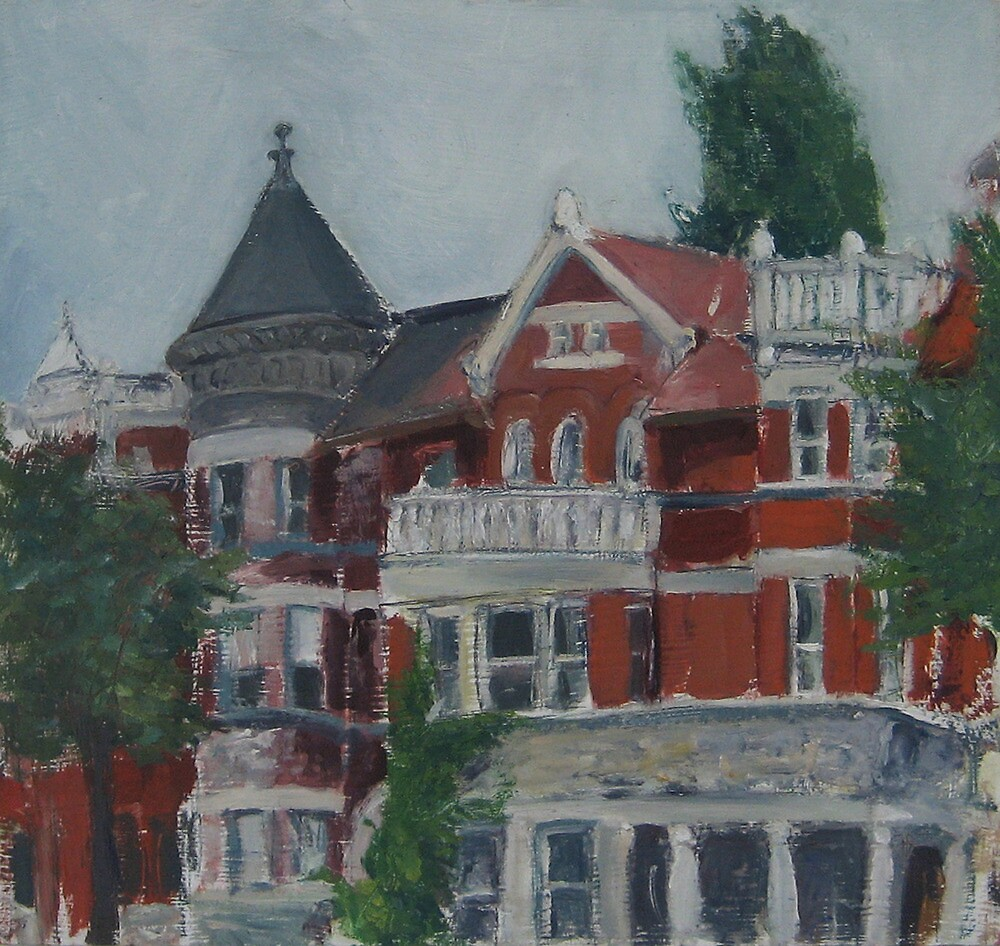 Houses at Dupont Circle by Marcie Wolf-Hubbard