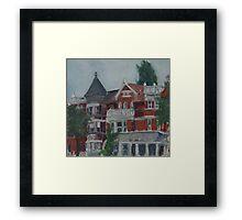 Houses at Dupont Circle Framed Print