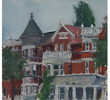 Houses at Dupont Circle Photographic Print