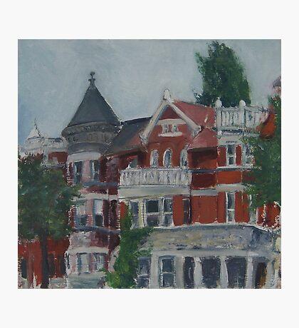 Houses at Dupont Circle Photographic Print