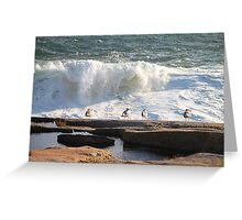 'Da Boyz Watchin' Da Waves' Greeting Card