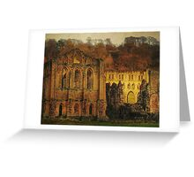 The Ruins Of Rievaulx Abbey Greeting Card