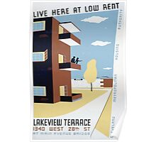WPA United States Government Work Project Administration Poster 0293 Live Here at Low Rent Lakeview Terrace Poster