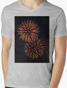 Fireworks 3 Mens V-Neck T-Shirt