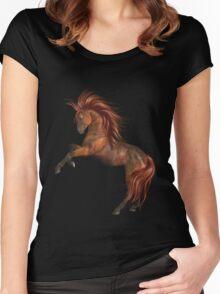 SunFire .. Wild Horse Women's Fitted Scoop T-Shirt
