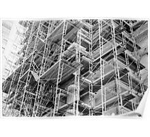 Scaffolding - City Hall - Philadelphia Poster