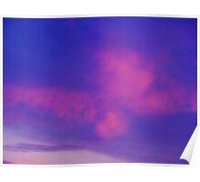 Pink Butterfly- Shaped Cloud Poster