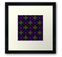 Bright Purple and Green Abstract Circles Framed Print