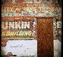 Painted Brick With Door by Robert Baker