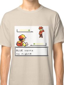 Pokemon Generation I - Blue wants to fight! Classic T-Shirt