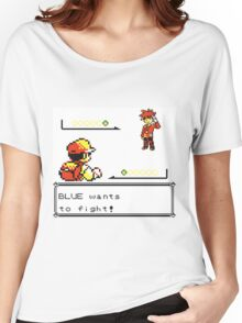 Pokemon Generation I - Blue wants to fight! Women's Relaxed Fit T-Shirt