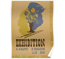 WPA United States Government Work Project Administration Poster 0866 Exhibition A Arapoff D Greason Elliot Orr Newbury Street Boston Poster