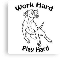 Work Hard, Play Hard Canvas Print