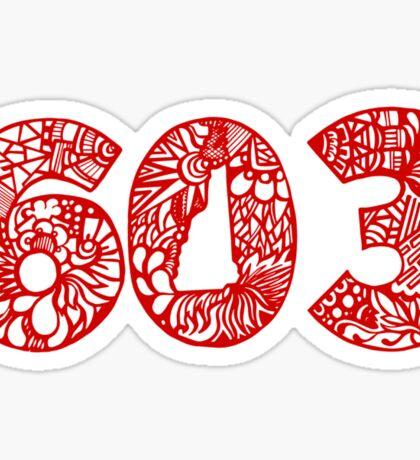 NH_603_RED Sticker