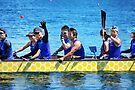 Dragon boat team from Japan by Laurie Minor
