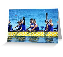 Dragon boat team from Japan Greeting Card