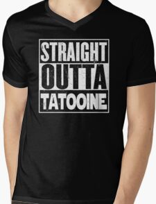 Straight Outta Tatooine Mens V-Neck T-Shirt