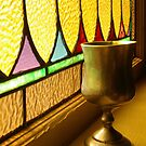 Stained Glass and Chalice by Kent Nickell