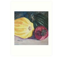 Red Onion with Squash Art Print