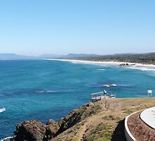 Lighthouse Beach from the Cliff. South Port Macquarie. N.S.W.  by Rita Blom