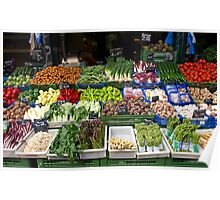 Fruits & Veggies for Sale Poster