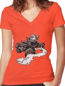 Old Time Rodent T-shirt Women's Fitted V-Neck T-Shirt