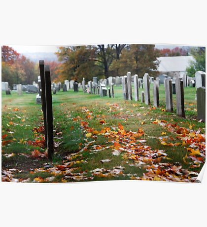 Autumn Cemetery Poster