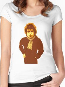Bob Dylan Blonde on Blonde Women's Fitted Scoop T-Shirt