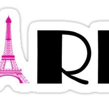 Hot Pink Black Eiffel Tower  Sticker