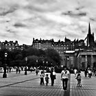 The City Of Edinburgh In B&W by Aj Finan