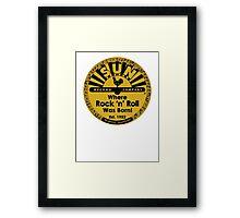 Sun Records T-Shirt Framed Print