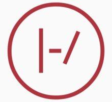 Twenty One Pilots - Red Logo by kjcoin