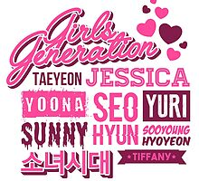 SNSD Girls' Generation Collage by skeletonvenus