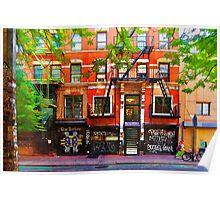 Lower East Side Street Scene Poster