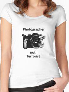 Photographer not Terrorist Women's Fitted Scoop T-Shirt