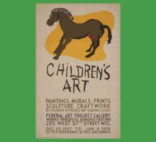 WPA United States Government Work Project Administration Poster 0616 Children's Art Paintings Murals Prints Sculpture Craftwork One Piece - Short Sleeve