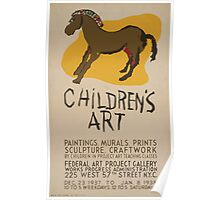 WPA United States Government Work Project Administration Poster 0616 Children's Art Paintings Murals Prints Sculpture Craftwork Poster