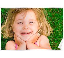 Katie in the garden Poster