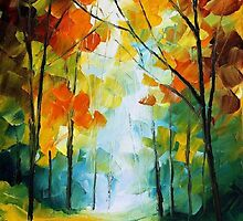 FALLS REASON - Original Art Oil Painting By Leonid Afremov by Leonid  Afremov