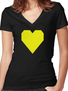 Process Yellow  Women's Fitted V-Neck T-Shirt