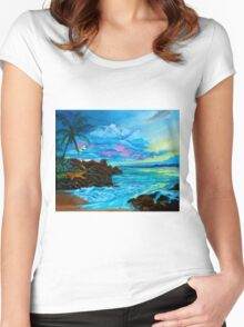 Tropical Dream Women's Fitted Scoop T-Shirt