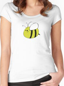 Hand Drawn Bumble Bee Women's Fitted Scoop T-Shirt