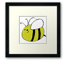 Hand Drawn Bumble Bee Framed Print