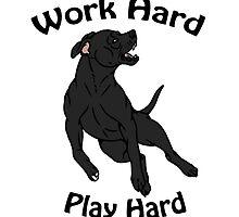 Work Hard, Play Hard - Black by Kay Salgado