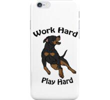 Work Hard, Play Hard - Black & Tan iPhone Case/Skin