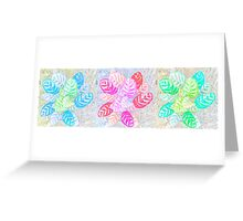 Pastel Frondescence Greeting Card