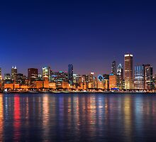 Chicago skyline by Steve Ivanov